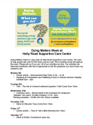 Our Dying Matters Week Programme